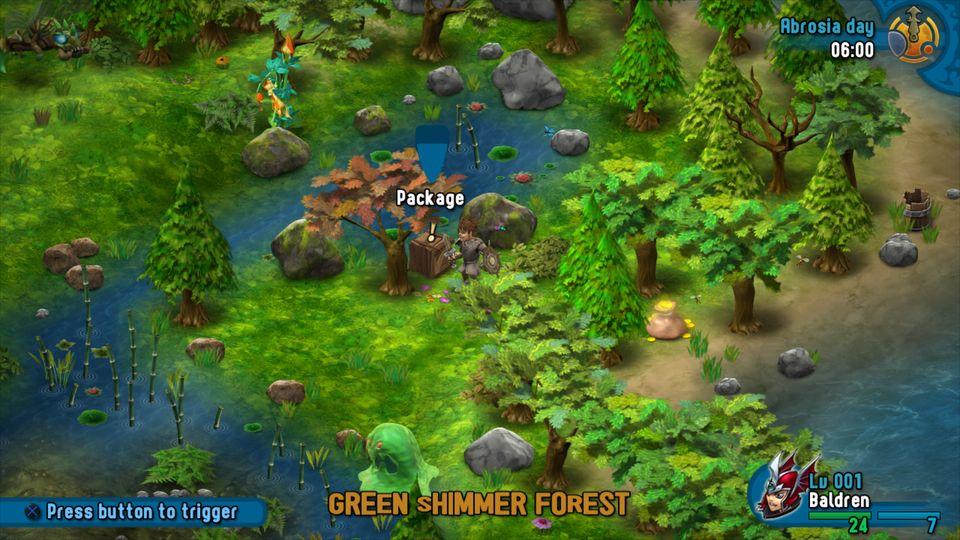 6. Arilla: Green Shimmer Forest - As you enter Shimmer Forest from east, just north of second Well is another package.